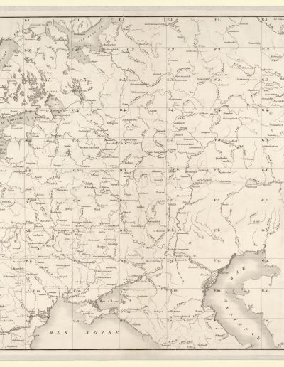 Large map of the Russian Empire of 1812 for Napoleon_schema