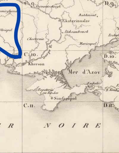 Small map of the Russian Empire of 1812 for Napoleon_schema